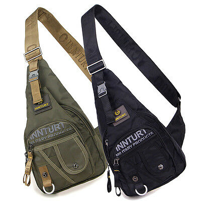 New men's Travel Sport Chest Hiking Shoulder Messenger bag Sling Backpack