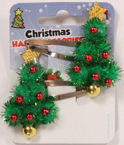 Christmas Hair Clips /& Ponios 2 Packs Various Xmas Designs Festive Ponytail