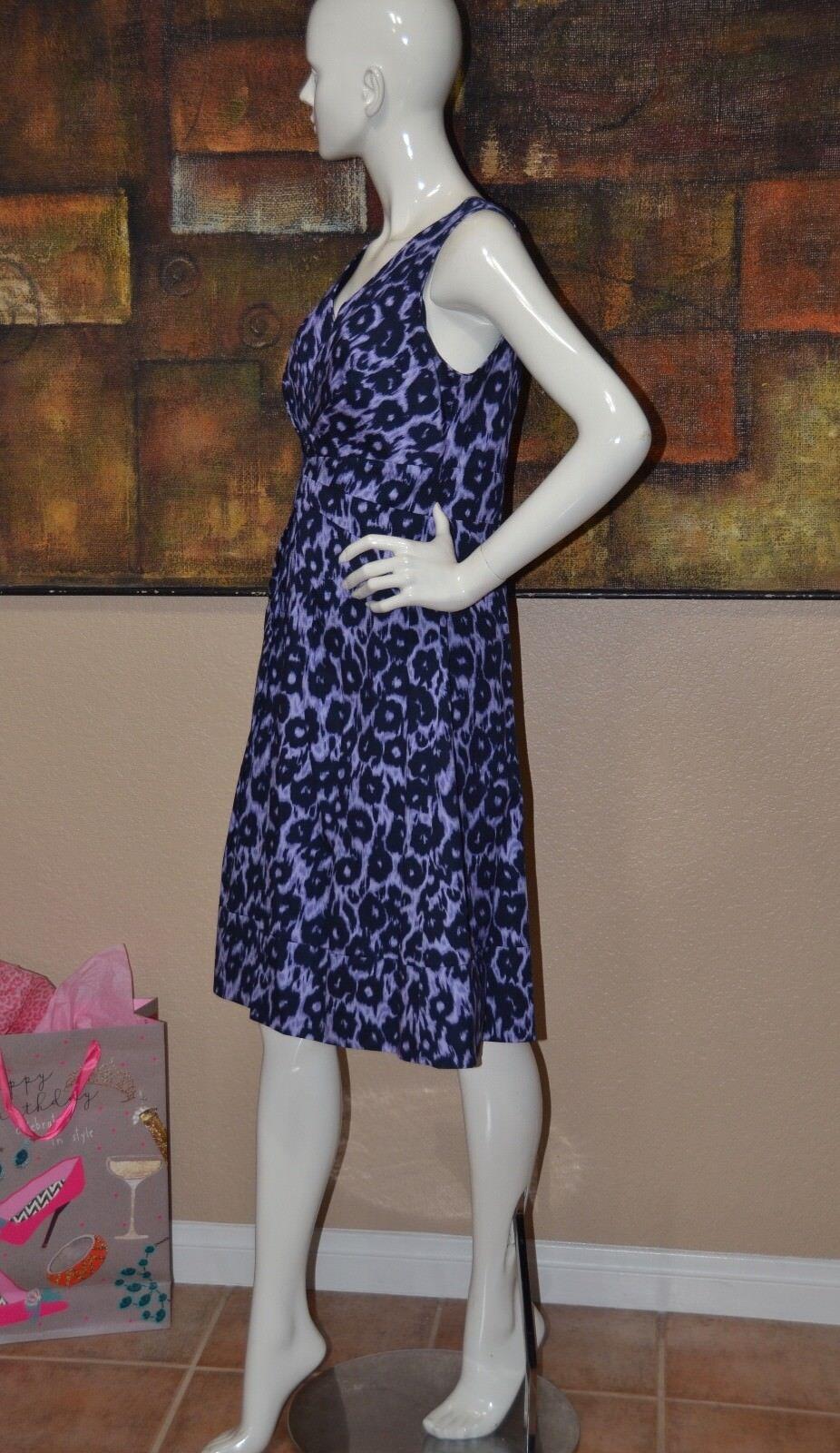 Lafayette Lafayette Lafayette 148 New York Purple Duncan Leopard Print Dress Size 6 NEW    c1cd01