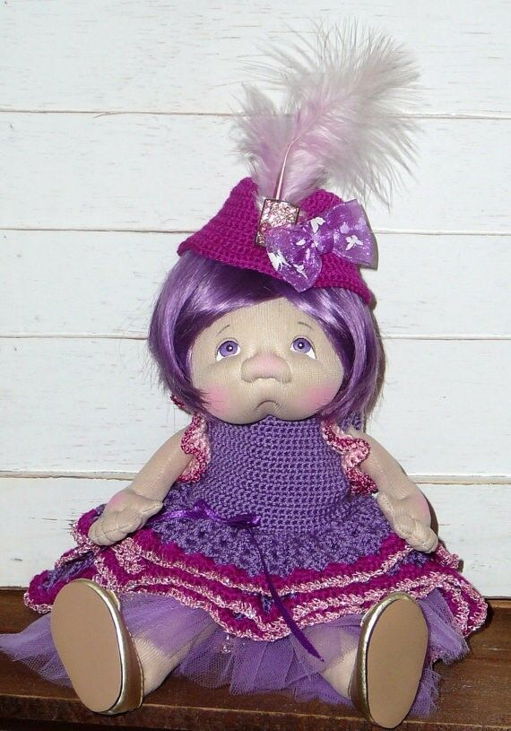 Paty Ollaif Soft Sculpture One of a Kind Artist Doll  SASHA