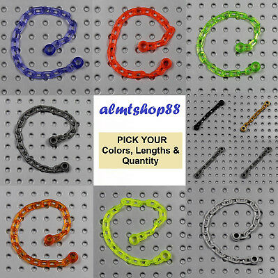 PICK YOUR COLOR !! Minifig 5 Links LEGO Utensil Chain