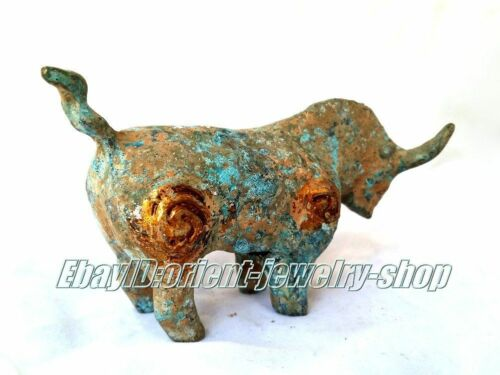 Collectables Chinese old Dynasty green patina Bronze horse statue