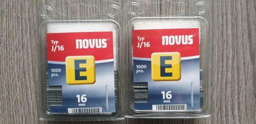 16 x 1,2 044-0063 2 x 1000 St. Novus Verzinkter Clou type E j//16 2000 St