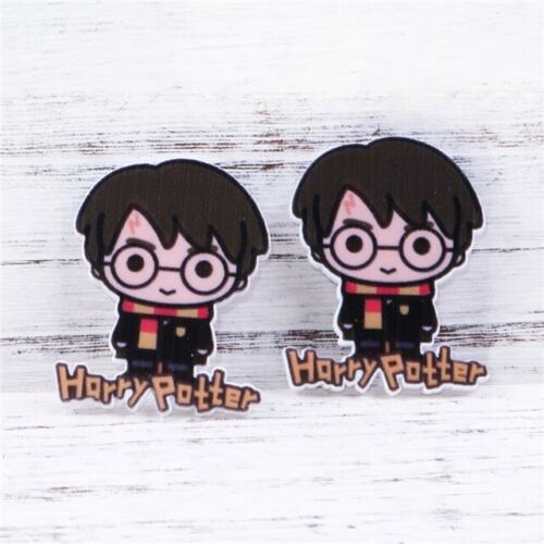 2 X 35MM NEW HARRY POTTER LASER CUT FLAT BACK RESIN HEADBANDS HAIR BOWS CRAFTS