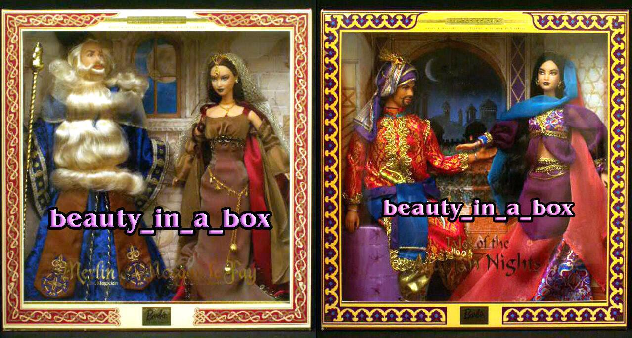 Merlin & Morgan le Fay Cuentos de las mil y una noches Barbie Ken Muñeca Giftset Lote 2