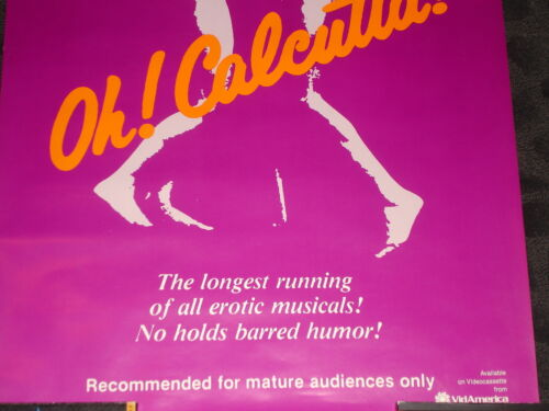 Adult xxx vintage from the Broadway show OH Calcutta movie poster