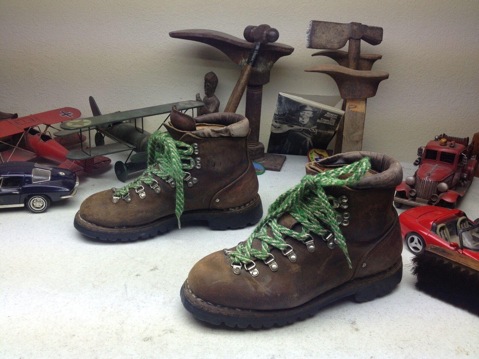 Vintage VASQUE marróns Cuero Con Cordones botas De Montaña ingeniero TRAIL BOSS 9-10 M w
