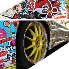 "60"" x 20"" Car Motorcycle Stickerbomb Graffiti Cartoon Vinyl Film Wrap Sticker"