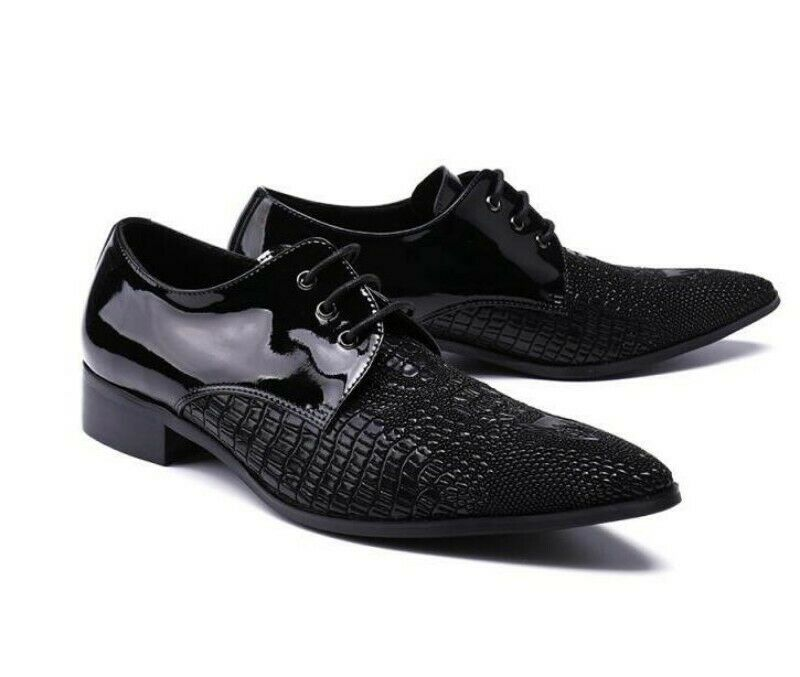 Mens Match Coloreeee Coloreeee Coloreeee Print Youth Lace Up Wing Tip Suiting Leather scarpe Korean News 77eab9