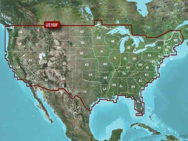 U.S. LakeVü HD Map microSD Data Card Garmin Fishing Map