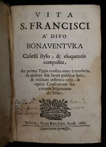 Vita-S-Francisci-A-039-Divo-Bonaventvra-Caelesti-stylo-amp-eloquentia-1686