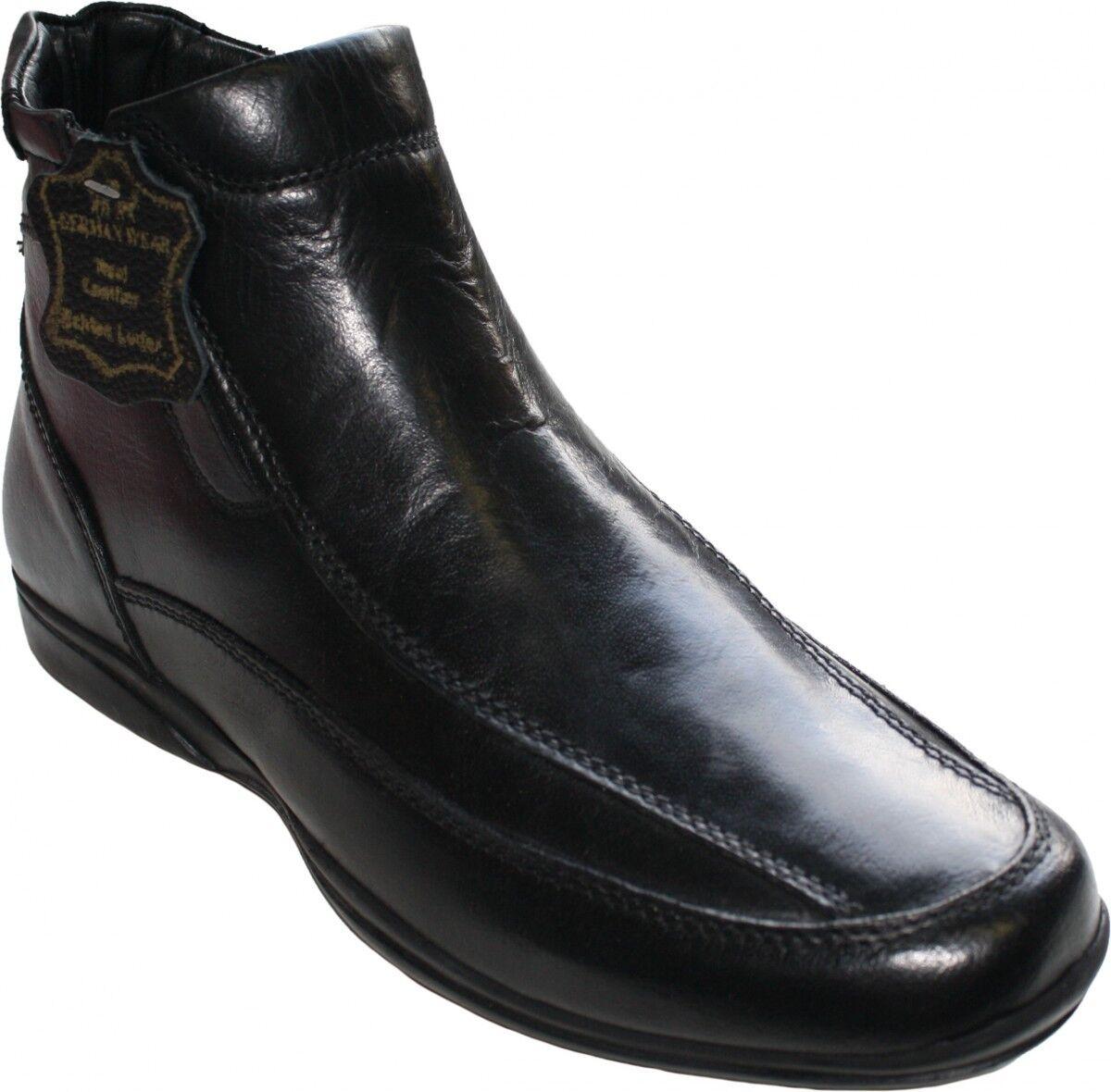 German Wear, SchnürZapatos Zapatos Stiefeletten aus echtem Rindsleder Zapatos SchnürZapatos Negro e99bf9