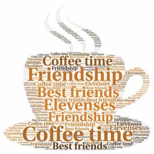 Personalised coffee cup friend special friend family word art picture