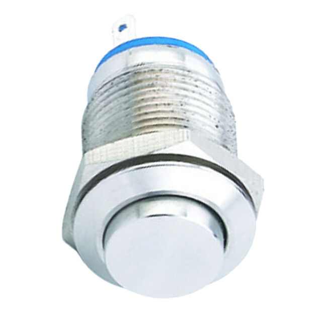 On DC 36V 2A Off- NO 16mm Metal Flat Momentary Push Button Switch C9Y1