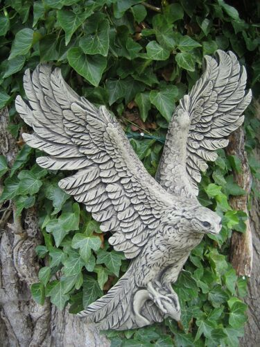 Osprey wall plaque stone garden ornament