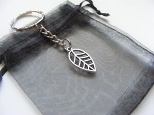 Leaf-Keyring-With-Gift-Bag-Nice-Christmas-Birthday-Present