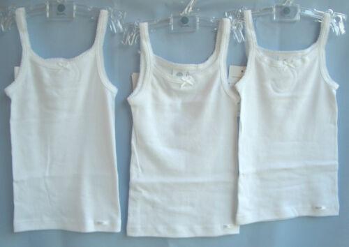 SANETTA Girls shirts 303500 3 ST Maxi Pack Bianco Taglia 104-176 UVP 23,85 € bomba garantito