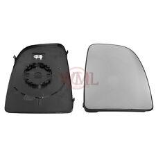 Peugeot Boxer 2006 > 2015 Puerta/Ala Espejo de cristal de plata, calentado & Base, rightside