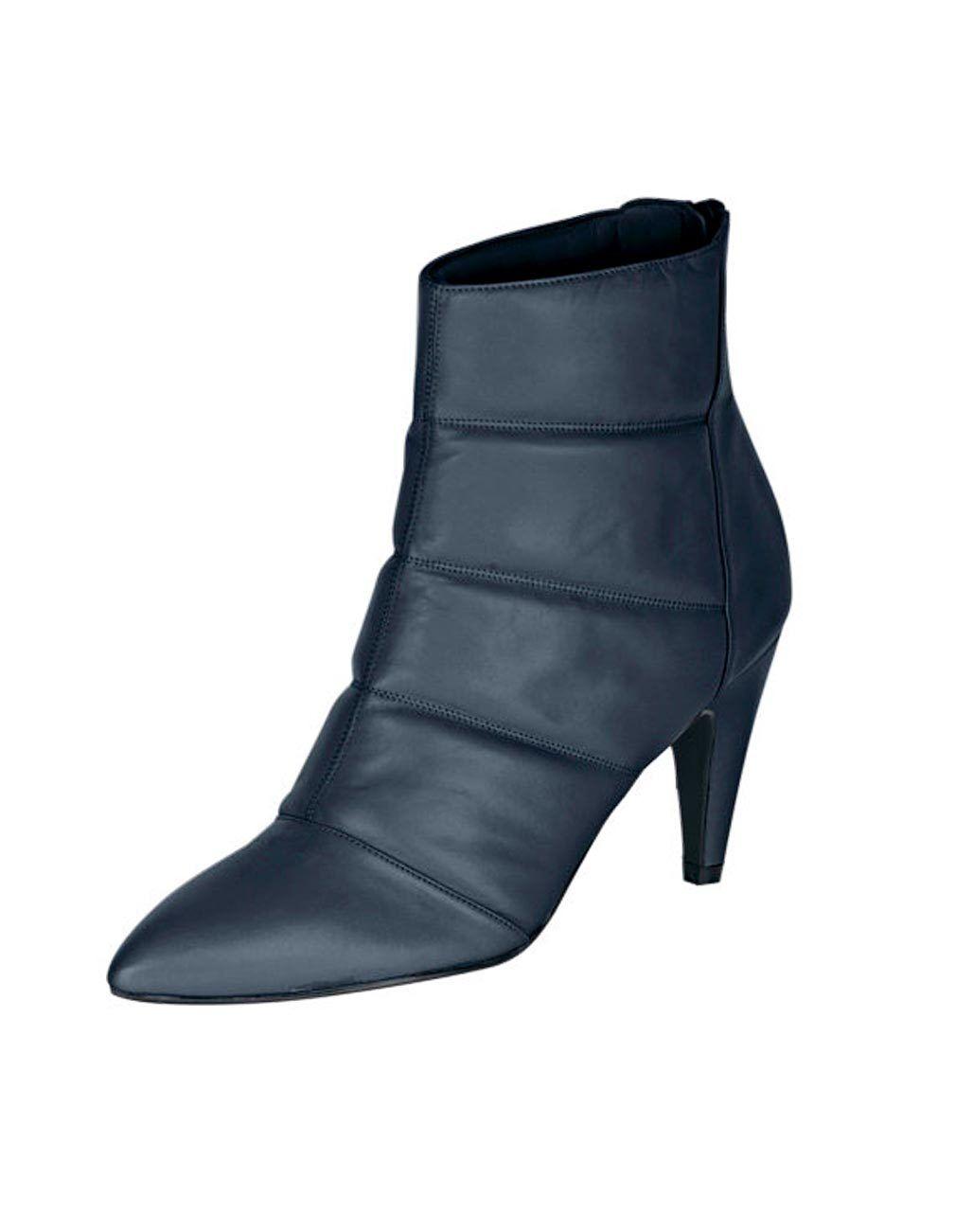 Zapatos especiales con descuento Heine Leder-Stiefelette, marine Gr 35 bis 42 UVP:  159.90