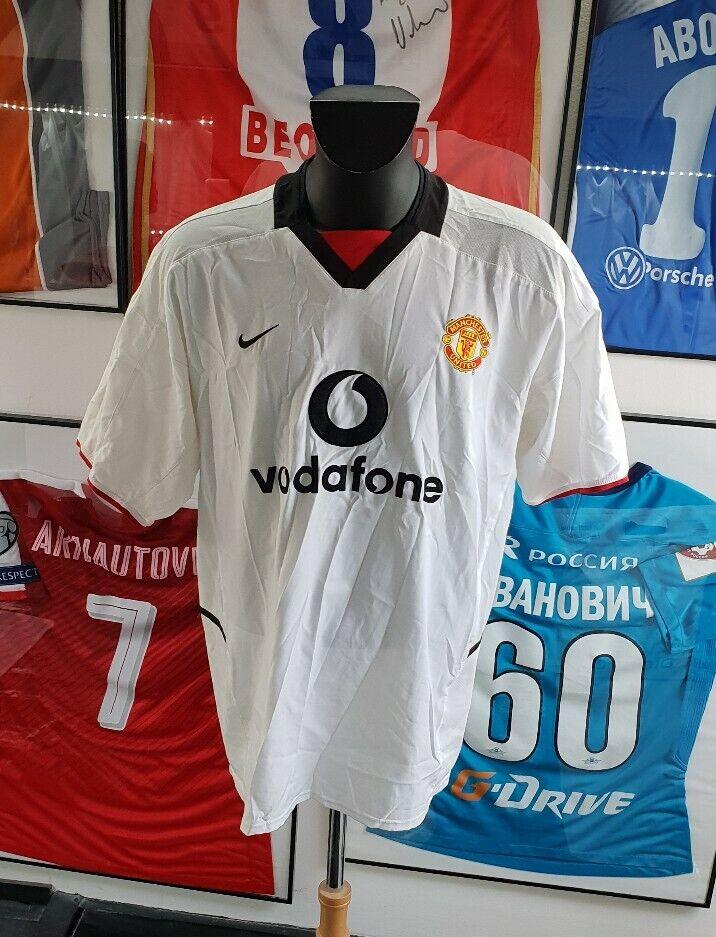 Trikot Shirt Spieler Trikot Getragen Getragen Manchester United 2002 2003 XL