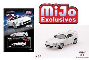 LHD 1:64 MiJo Exclusive JZA80 Mini-GT TSM Model Black 1998 TOYOTA SUPRA