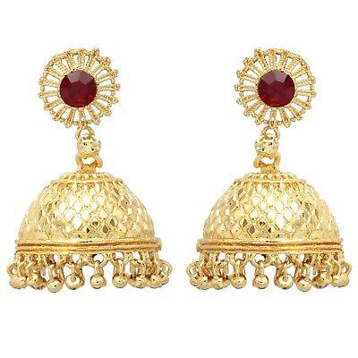 Indian 22 Carat Gold Plated Earrings Fashion Bollywood Wedding Jhumka Jhumki