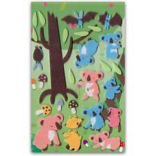 CUTE KOALA BEAR FELT STICKERS Sheet Animal Craft Scrapbook Bat Fuzzy Sticker