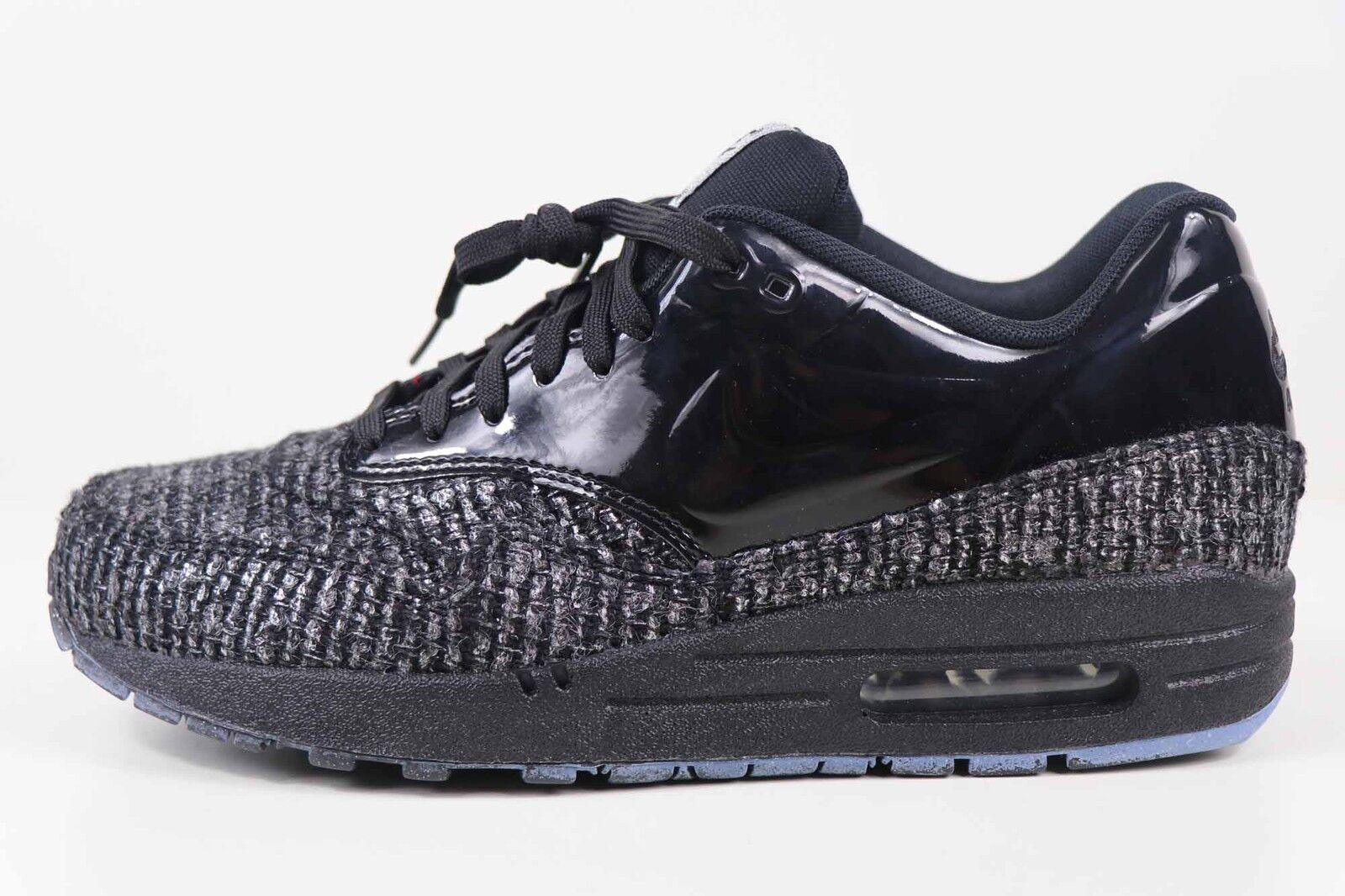 Nike Womens Air Max 1 VT QS Black Metallic Silver 615868 002 Size 9.5