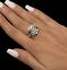 Vintage-Ladies-Cocktail-Floral-Cluster-Ring-14K-White-Gold-2-15-CTW-Diamonds thumbnail 4