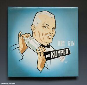 ALTES-Pappschild-DRY-GIN-DE-KYPER-wohl-um-1955