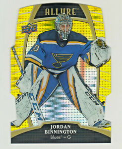 2019-20-Upper-Deck-Allure-YELLOW-TAXI-DIE-CUT-48-JORDAN-BINNINGTON-Blues-RETAIL