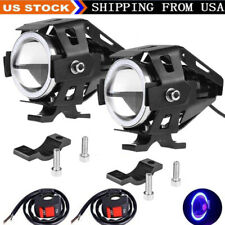2pcs Angel Eyes Bright 125w Led Fog Light Motorcycle Headlight Driving Spot Lamp