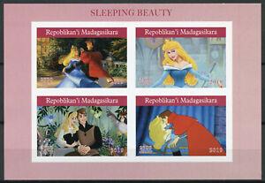 Madagascar-2019-estampillada-sin-montar-o-nunca-montada-dormir-belleza-4v-IMPF-m-s-Disney-Dibujos