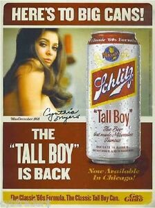 Cynthia Meyers Schlitz Beer Tall Boy Refrigerator / Tool ...