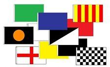 3' x 2' TRACK MARSHALL FULL RACE SET 11 FLAGS Formula 1 Motor Sport F1 Racing