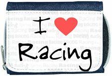 I Love Heart Racing Denim Wallet
