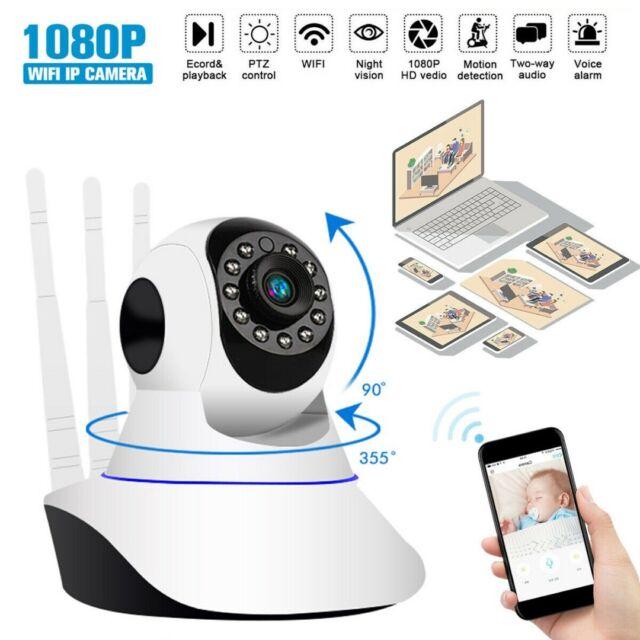 HD 1080P Wifi IP Camera Three Antenna Home Wireless Smart Audio Two Way Voice DE