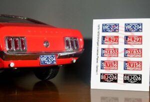 1975-1979-MICHIGAN-miniature-LICENSE-PLATES-for-1-25-scale-MODEL-CARS