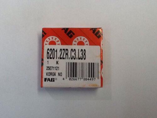 FAG 6201.2ZR.C3.L38 Ball Bearing NOS 2 IN LOT