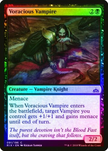 Voracious Vampire FOIL Rivals of Ixalan NM Black Common MAGIC CARD ABUGames