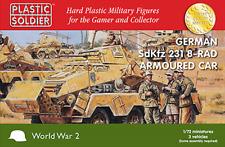 WW2V20025 20MM - German Adkfz 231 8-Rad Armoured Car x 3 - PLASTIC SOLDIER CO