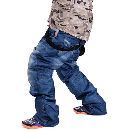 Donna P Sci Pantaloni Unisex Uomo Waterproof Pants Ski Neve Pasnw02 Denim Jeans ZTZA4qX