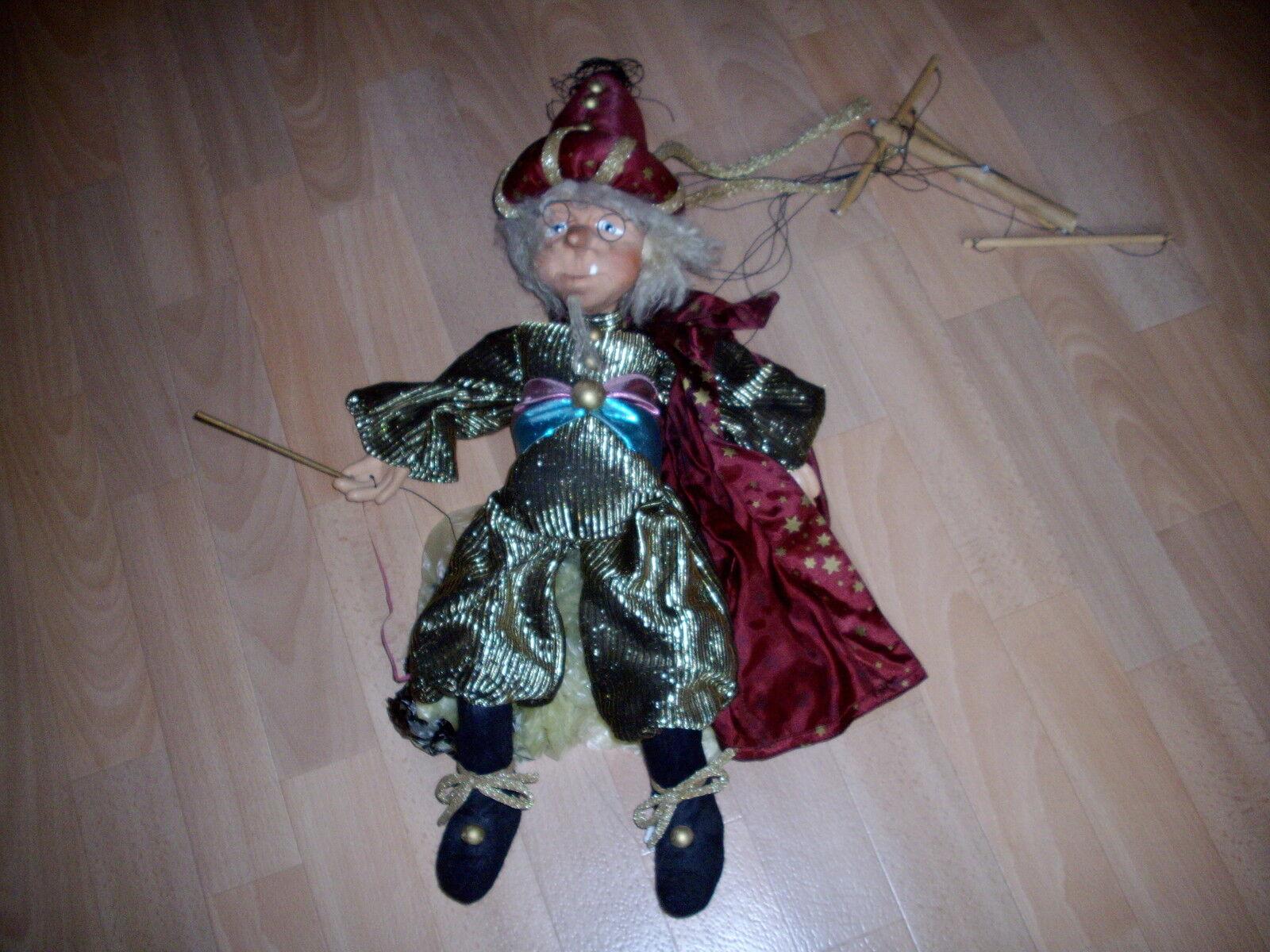 Marionette Zauberer  handgemacht Porzellan