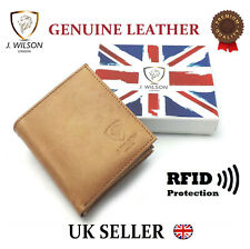 Designer Mens Leather Wallet RFID SAFE Contactless Card Blocking ID Protection