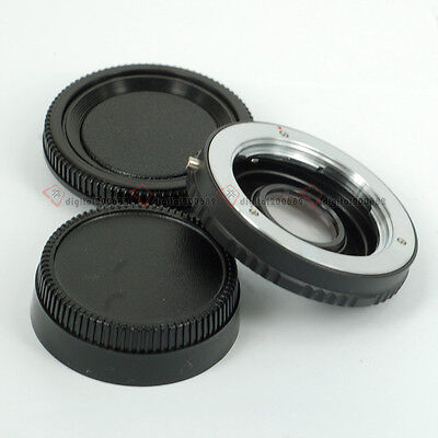 For Minolta MD MC Lens to Nikon Body DSLR Adapter Ring with Glass focus infinity