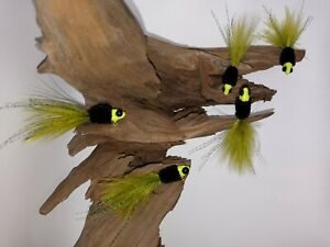5 hand tied crappie jigs 1/16oz