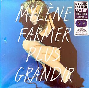 Mylène Farmer 2xLP Plus Grandir - Vinyles Bleus - France