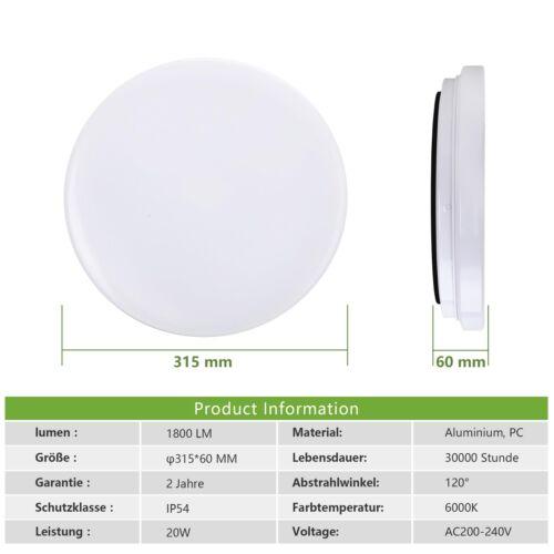 15W 62W LED Deckenleuchte Deckenlampe Wandlampe Küche Wohnzimmer Flurleuchte
