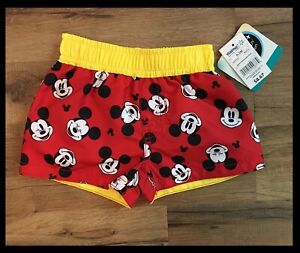 MICKEY MOUSE Infant Boys 0-3 3-6 6-9 18 24 Months Shorts SWIM TRUNKS NEW W TAGS