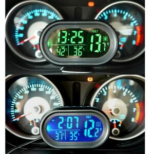 Car-12-24V-LCD-Digital-Temperature-Clock-Thermometer-Voltage-Meter-Accessories